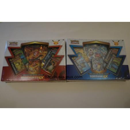 Pokemon Coffret Dracaufeu Ex et Coffret Tortank Ex, générations 20 ans, collection rouge et bleu