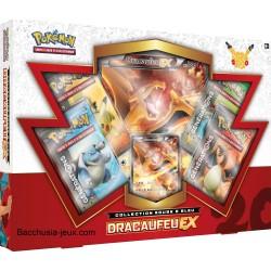 Pokémon Coffret été Dracaufeu EX, collection rouge et bleu, générations 20 ans