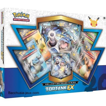 Pokémon Coffret été Tortank EX, collection rouge et bleu, génération 20 ans