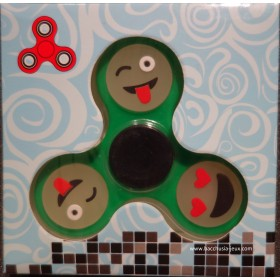 Hand Spinner Smiley / Emoticone Phosphorescent Vert