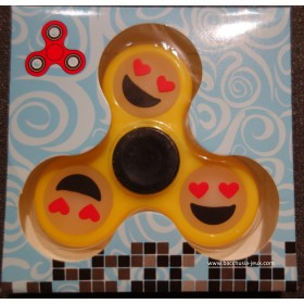 Hand Spinner Smiley / Emoticone Phosphorescent Jaune