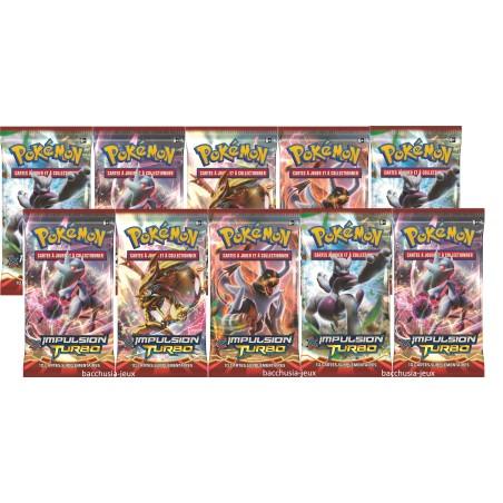 Pokémon Lot de 10 boosters XY8 Impulsion Turbo