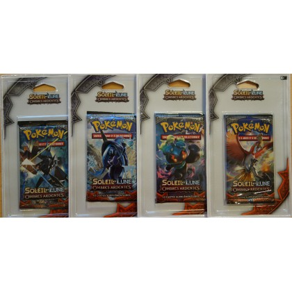 Pokemon Lot de 4 boosters sous blister SL3 Ombres Ardentes