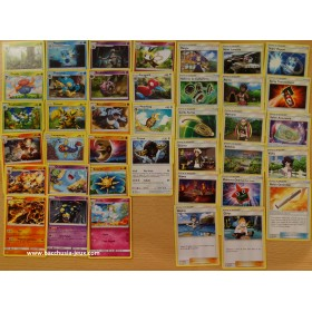 Pokemon Lot complet de cartes peu communes SL3 Ombres Ardentes