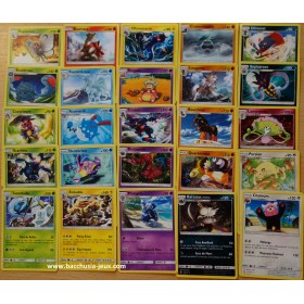 Pokemon Lot complet de 25 cartes rares SL3 Ombres Ardentes