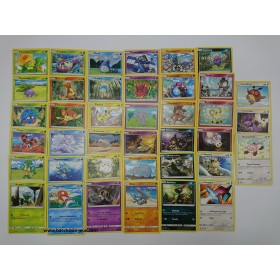 Pokemon Lot complet de 39 cartes communes SL3 Ombres Ardentes