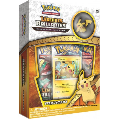 Pokemon Coffret Légendes Brillantes Pikachu + 1 pin's