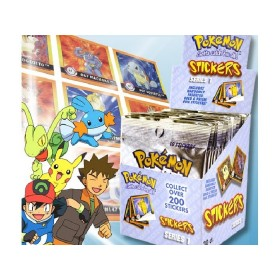 Pokemon Stickers x10 en anglais
