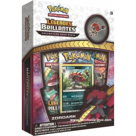 Pokemon SL3.5 Coffret Légendes Brillantes Zoroark + 1 pin's