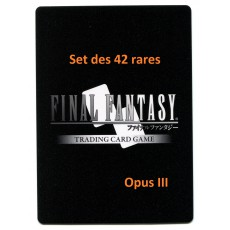 Final Fantasy Opus III Set des 42 rares