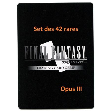Final Fantasy Opus III Set des 42 rares