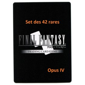 Final Fantasy Opus IV Set des 42 rares