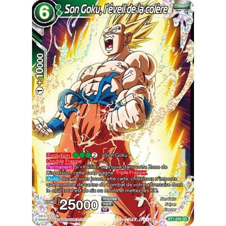 Son Goku, l'éveil de la colère BT1-059 SR