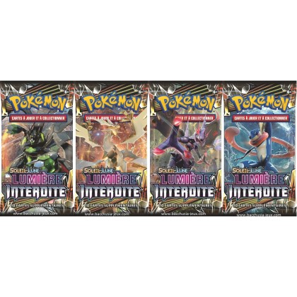 Pokemon Lot de 4 boosters SL6 Lumiere Interdite