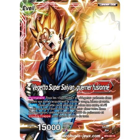 Vegetto Super Saiyan, guerrier fusionne BT2-001 R