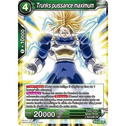 Trunks puissance maximum BT2-078 UC
