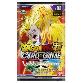Dragon Ball Super - 1 Booster FR - Serie 3 - Les Mondes Croises