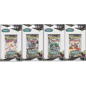 Pokemon Lot de 4 boosters sous blister SL7 Tempete Celeste