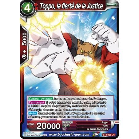 Toppo, la fierté de la Justice BT3-026 UC