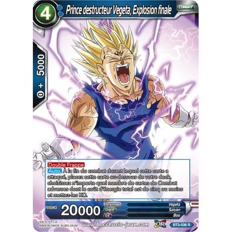 Prince destructeur Vegeta, Explosion finale BT3-036 R