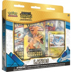 Pokemon Coffret 7.5 Majeste des Dragons Latios + 1 pin's