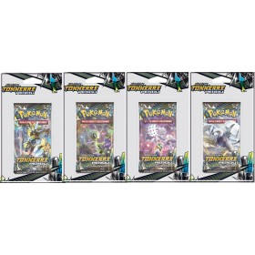 Pokemon Lot de 4 boosters sous blister SL8 Tonnerre Perdu
