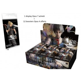 Final Fantasy TCG Display de 36 Boosters Opus 7 + 12 boosters Opus 4 Offerts