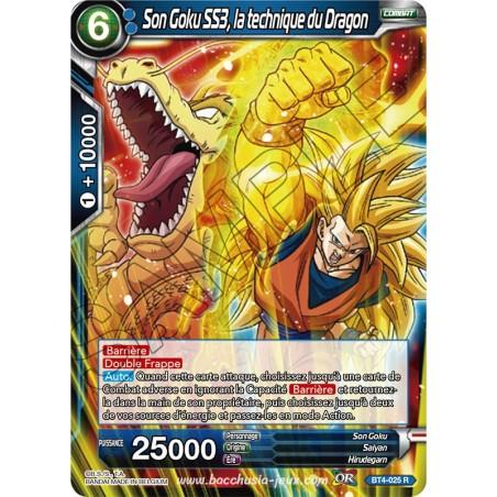 BT4-025 R Son Goku SS3, la technique du Dragon