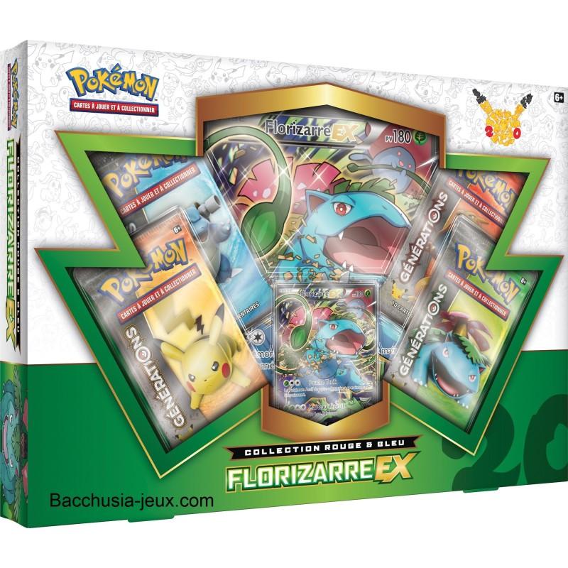 Pokémon Coffret été Florizarre EX, collection rouge et bleu, générations 20 ans