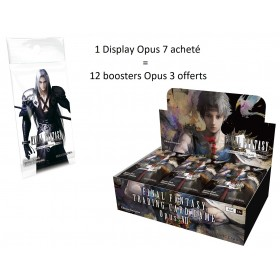 Final Fantasy TCG Display de 36 Boosters Opus 7 + 12 boosters Opus 3 Offerts