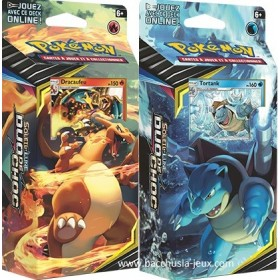 Pokemon Deck Dracaufeu et Deck Tortank SL09 Duo de Choc