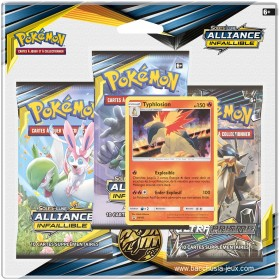 Pokemon Tripack SL10 Alliance Infaillible - Typhlosion
