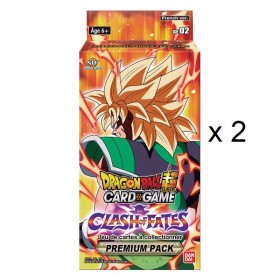 Dragon Ball Super - 2 boîtes Premium Pack Theme Boosters 3 - Clash of Fates - GE02