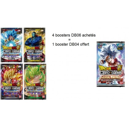 Dragon Ball Super - 4 Boosters FR - Serie 6 -Destroyer Kings