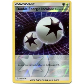 Carte Pokemon SL1 Double Energie Incolore Reverse 136/149