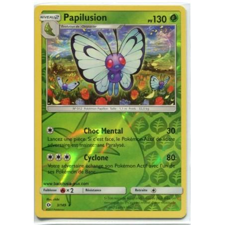 Carte Pokemon SL1 3/149 Papilusion Reverve