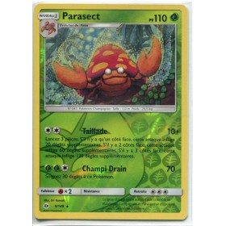 Carte Pokemon SL1 4/149 Parasect Reverse