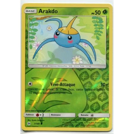 Carte Pokemon SL1 7/149 Arakdo Reverse