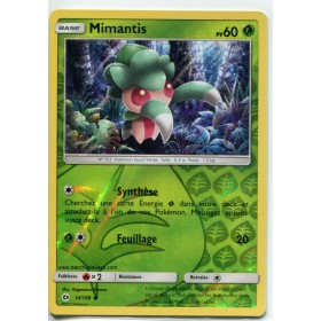 Carte Pokemon SL1 14/149 Mimantis Reverse