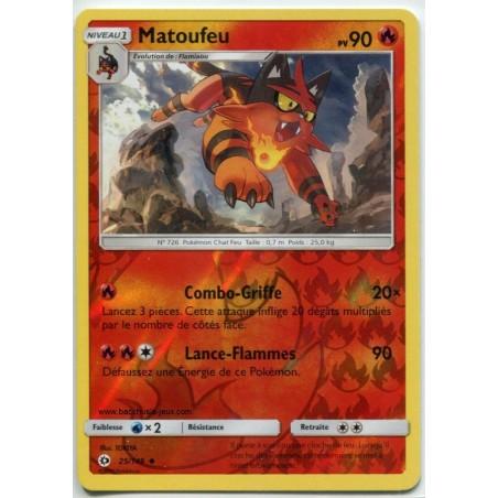 Carte Pokemon SL1 25/149 Matoufeu Reverse