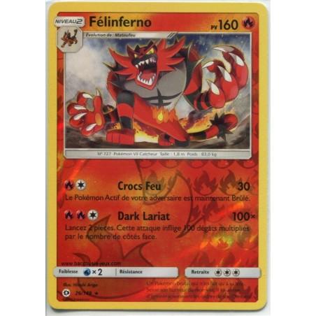 Carte Pokemon SL1 26/149 Félinferno Reverse
