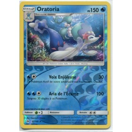 Carte Pokemon SL1 41/149 Oratoria reverse