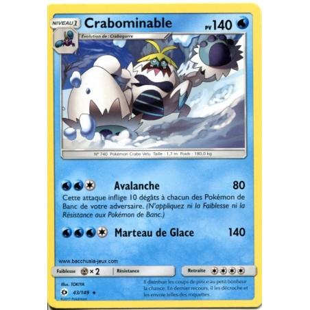 Carte Pokemon SL1 43/149 Crabominable