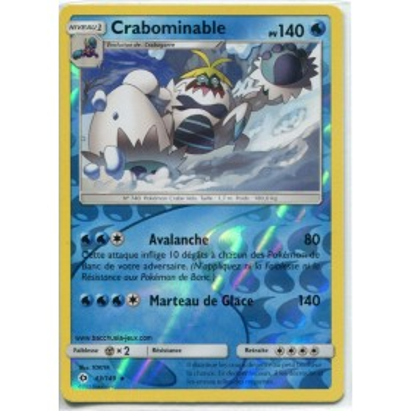Carte Pokemon SL1 43/149 Crabominable Reverse