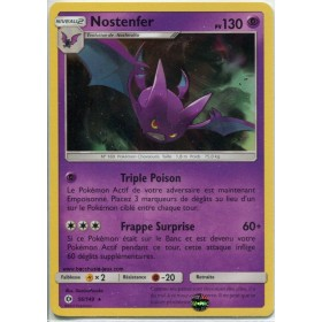 Carte Pokemon SL1 56/149 Nostenfer Holo