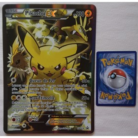 Carte Jumbo Pikachu EX XY124 Collection pokemon coffret rouge et bleu