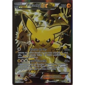 Carte Pikachu EX XY124 Collection pokemon coffret rouge et bleu
