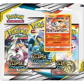 Pokemon Tripack SL12 Eclipse Cosmique - Victini