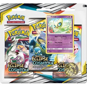 Pokemon Tripack SL12 Eclipse Cosmique - Celebi