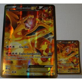 Cartes Pokemon Dracaufeu EX XY121 Normale+Jumbo (Collection rouge et bleu)